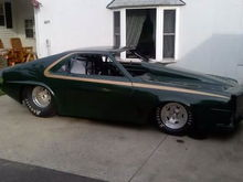 dads AMC AMX drag car