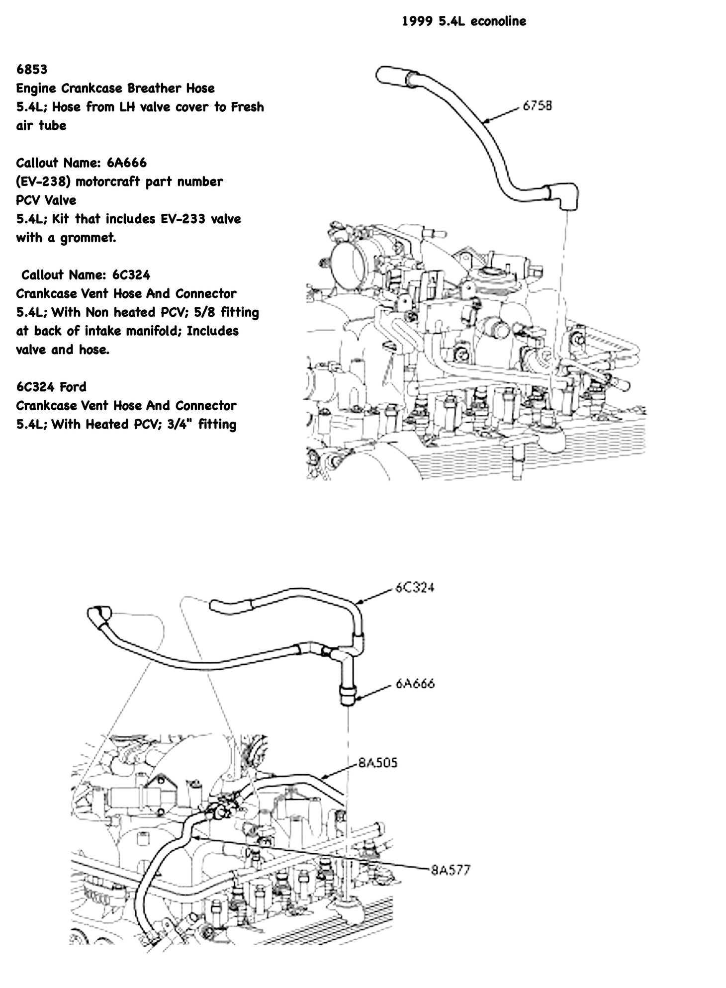3 4 L Engine Diagram Wiring Library F150 1999 5 4l V8 Heated Pcv Hose Assembly W Trusted