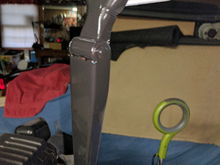 Ben was kind enough to give me a rear wiper arm and motor, so clean, prime, and paint.