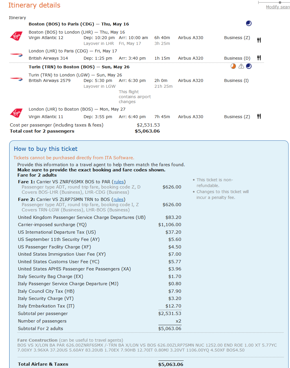 Difficulty booking Virgin/BA itinerary - FlyerTalk Forums