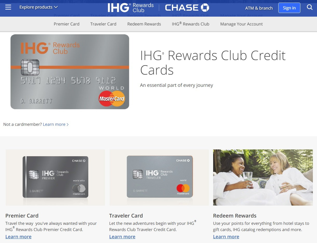 New Chase IHG Credit Card Options - FlyerTalk Forums