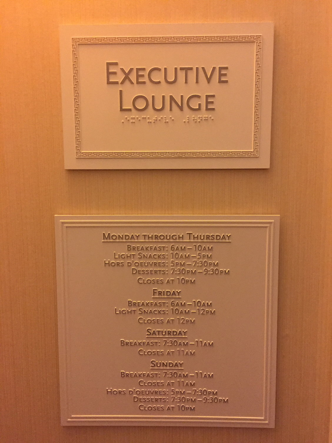 MASTER THREAD: USA Executive Lounges Open/Closed on Weekends
