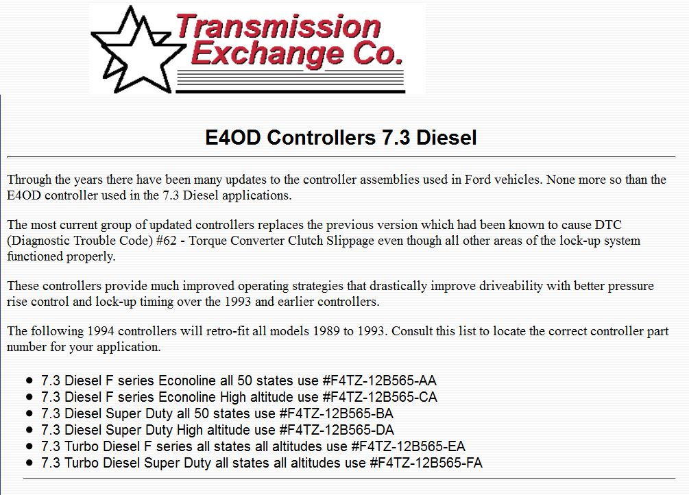E4od code 93 what to check - Ford Truck Enthusiasts Forums