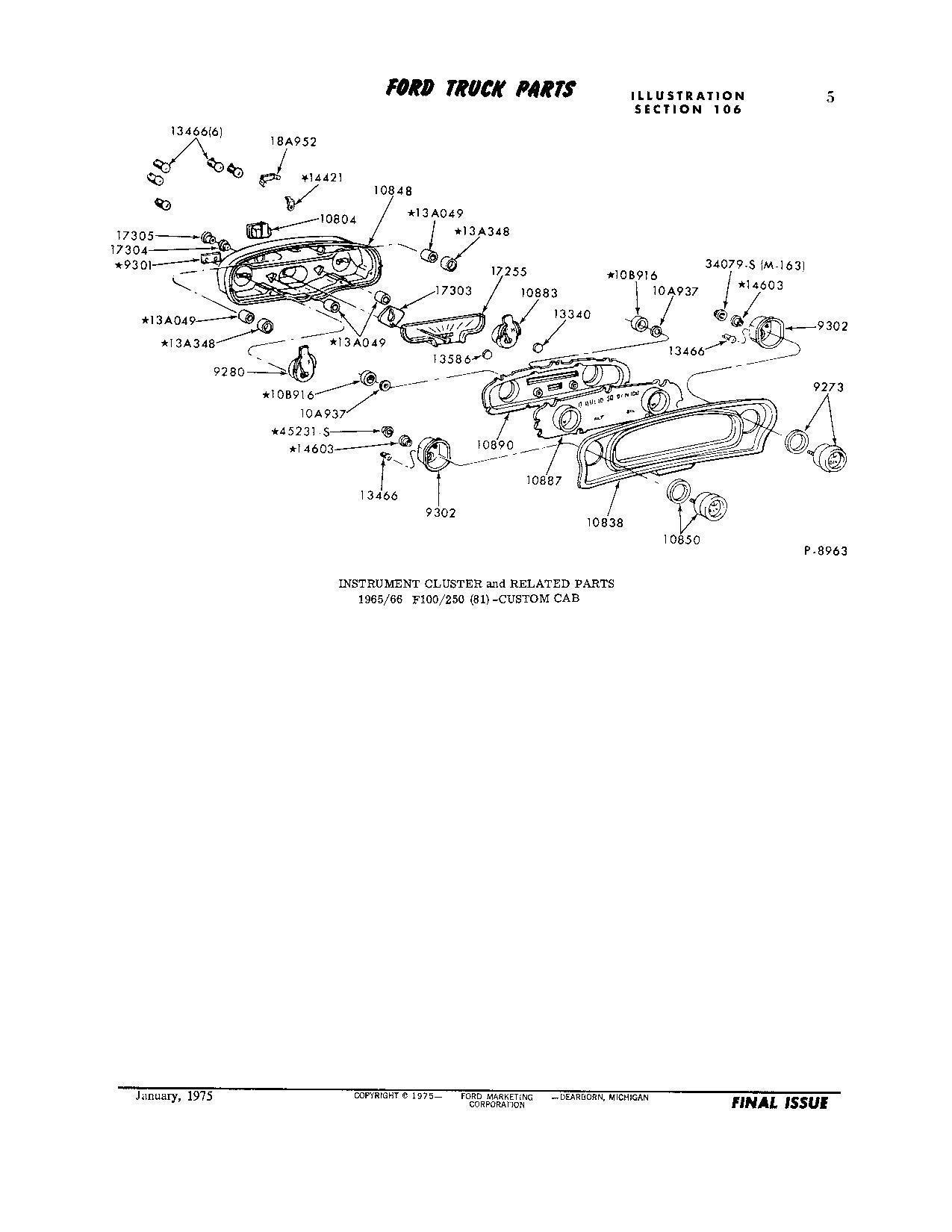 66 F250 Instrument Cluster Diagram