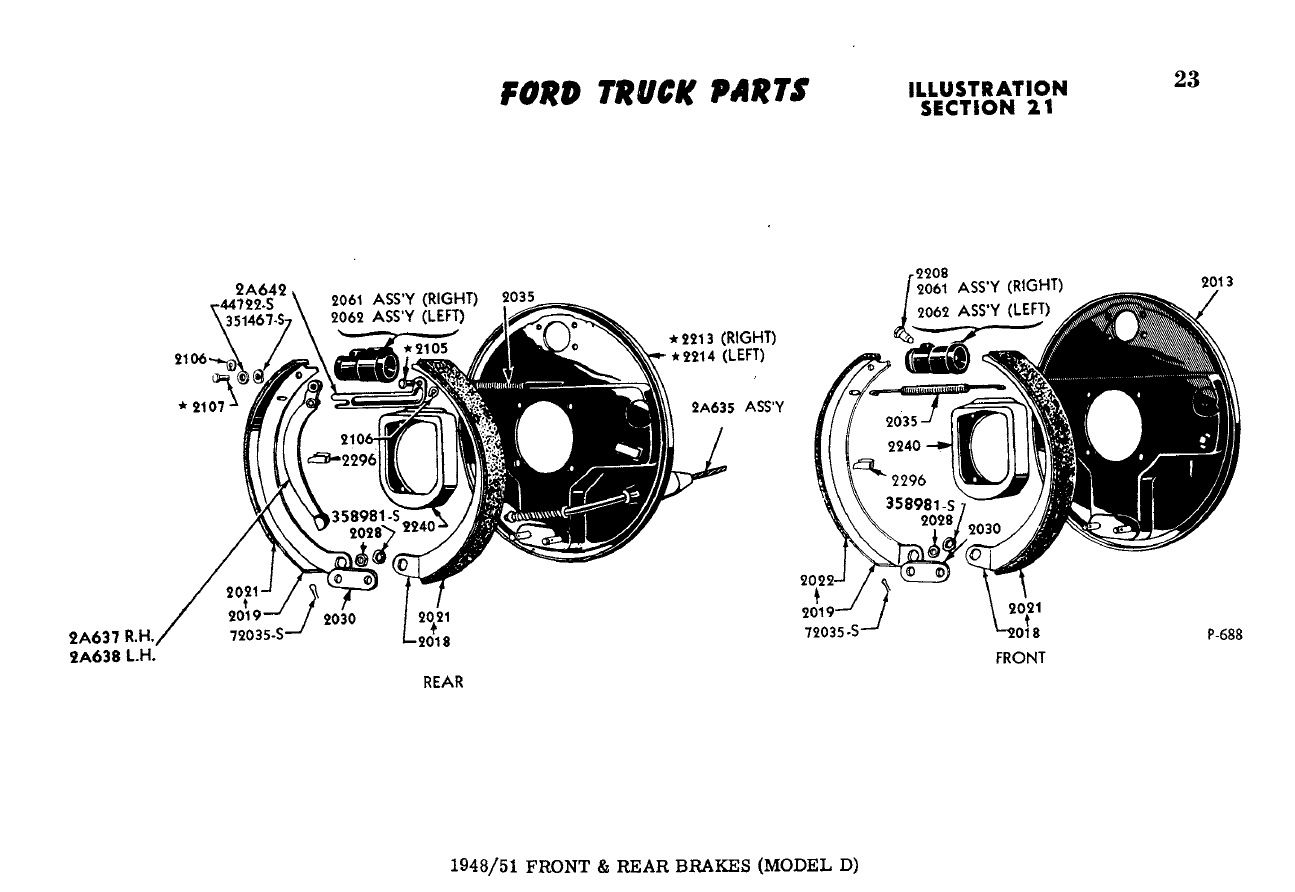 1950 ford f2 misc parts