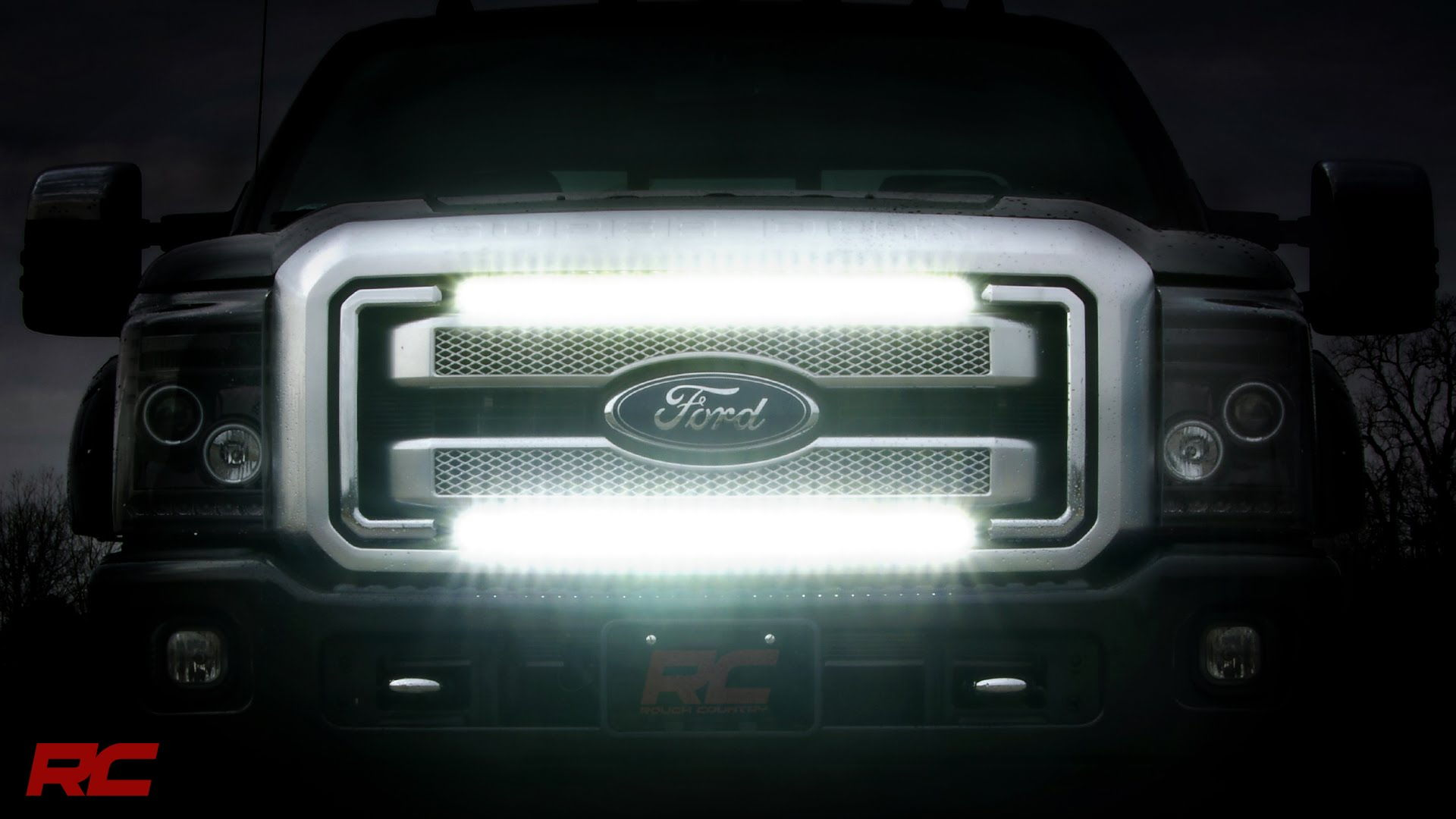 Grille Light Bar 2017 Super Duty Ford Truck