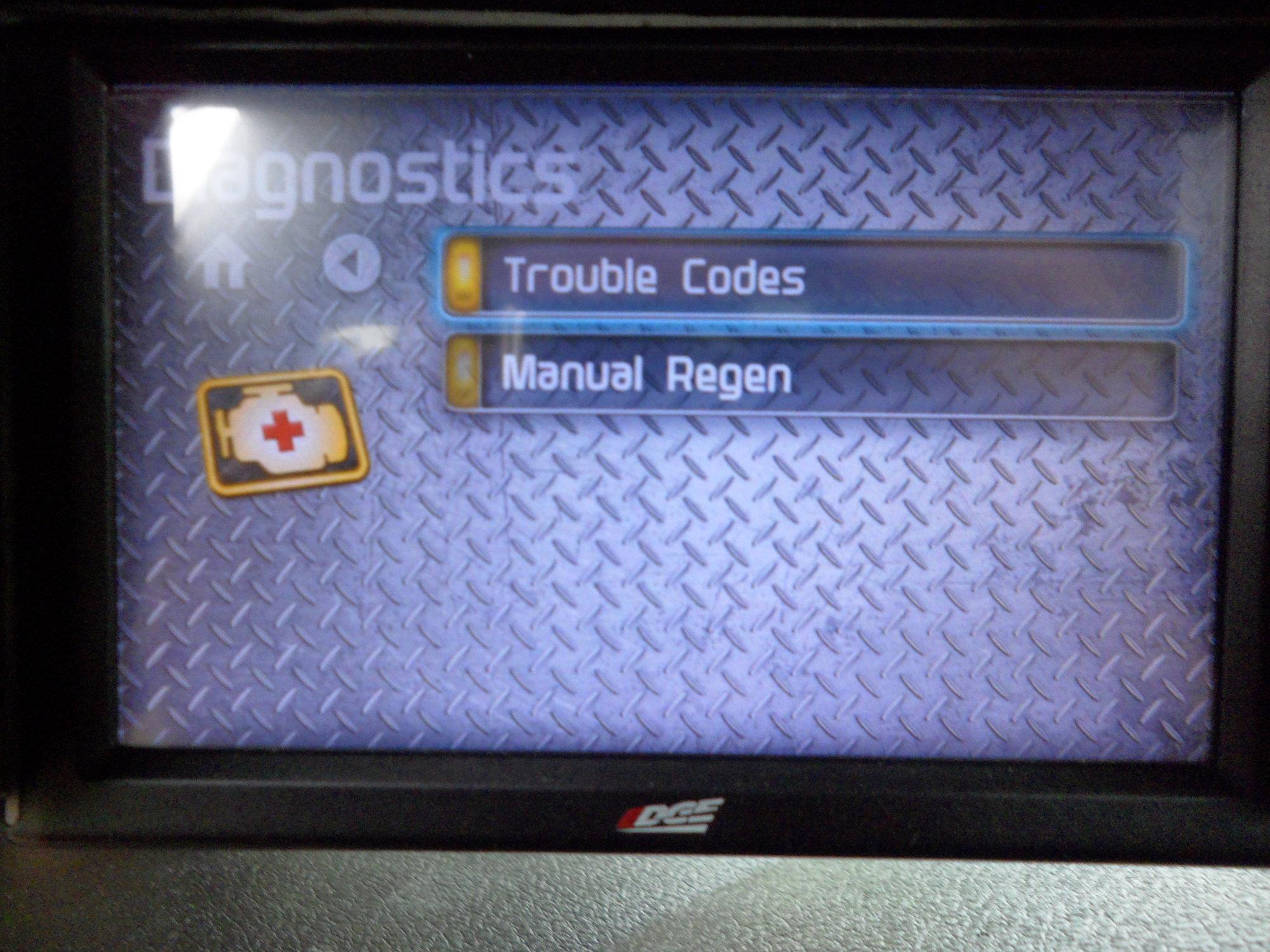 edge cts manual regen