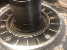 New seal installed on input shaft.