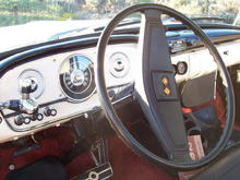 White marbles in the dash knobs. Real Ivory dice in GM tilt steering Wheel