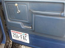 I took the duct tape off, and put an old license plate over the giant speaker hole