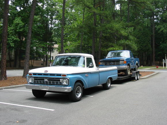 65 f100 towing capacity ford truck enthusiasts forums. Black Bedroom Furniture Sets. Home Design Ideas