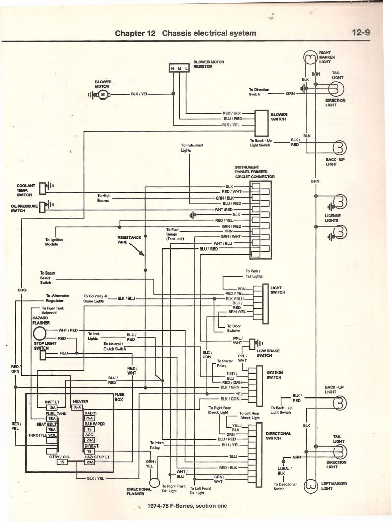 ford f350 headlight switch wiring 1978 headlight wiring diagram ford truck enthusiasts forums  1978 headlight wiring diagram ford