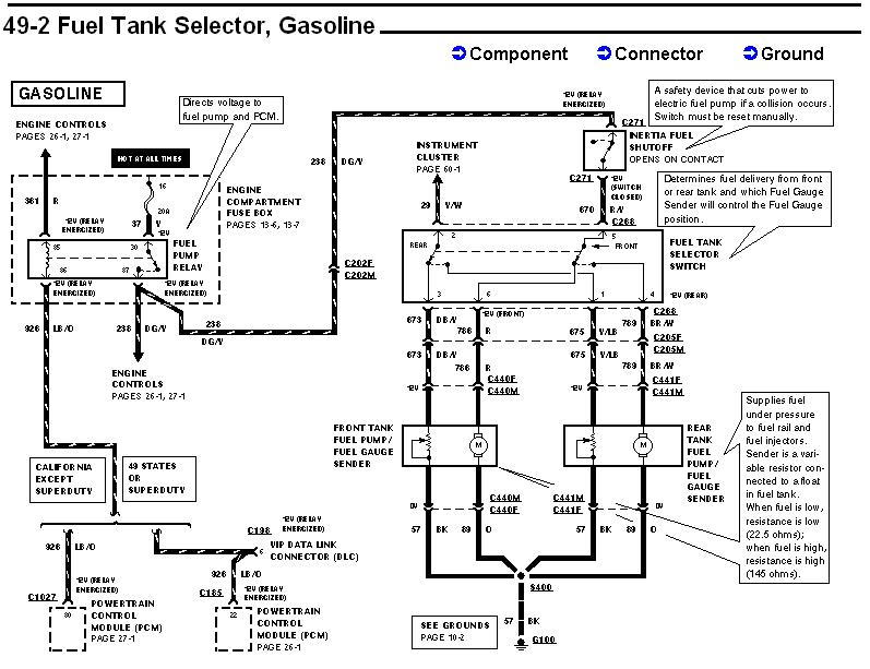 F Series Dual Fuel Tank Diagram A B C D D Bd C D D C Ec on 1996 ford f 150 fuel pump wiring diagram