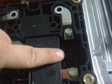 I am pointing to the location of the fuse...