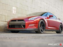 Project 6GR FIVE Gloss Black Front Low Side View TOYO R888 285/35/20 315/30/20 Nissan GTR