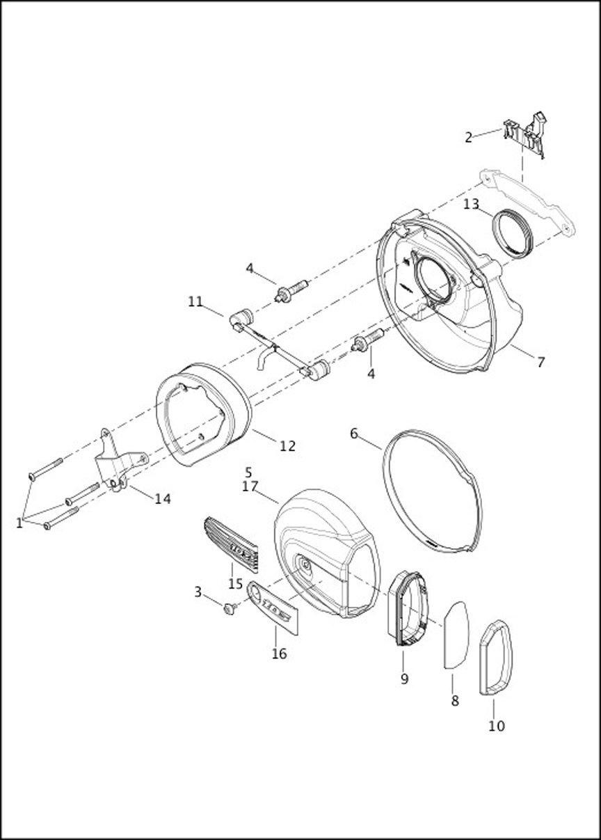 HARLEY DAVIDSON 29400043 Air Breather Hose Assembly