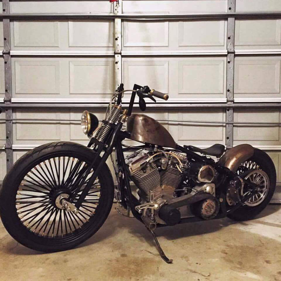 Any Sportster style tank for softail frame? - Harley Davidson Forums