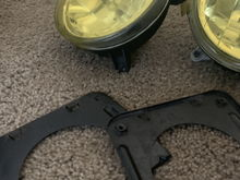 Bugeye Fog Lights with mounts and yellow tint