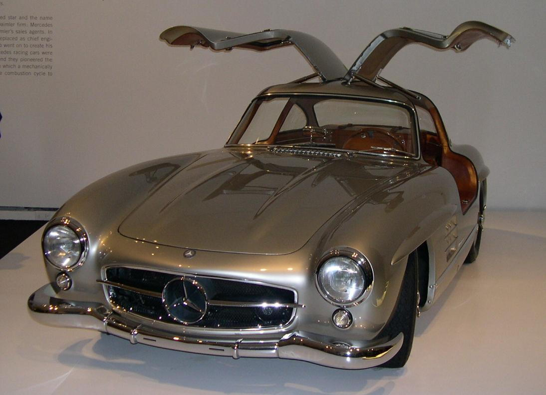 Gull wing on a 300sl sure i remember thinking every car would end up with gull wings in the future