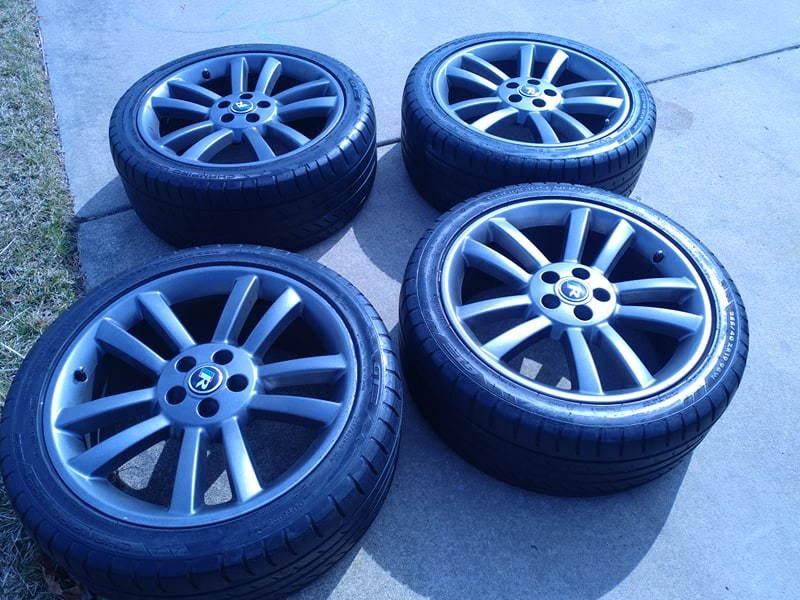 Full set of 2004 XJR 10 spoke wheels & tires. - Jaguar ...