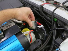 Plug in the ARB harness and route it over to the battery box.