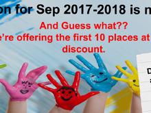September 2017 - 2018 Registration