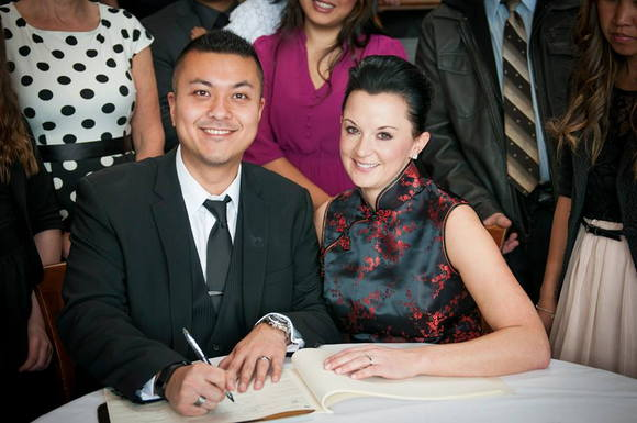 Brian and I at our legal ceremony