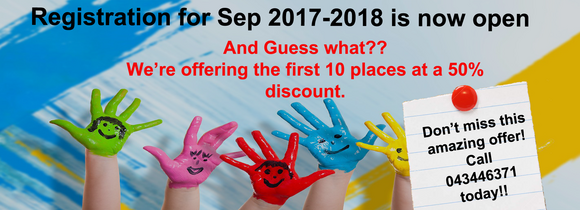 September 2017 - 2018 Registration