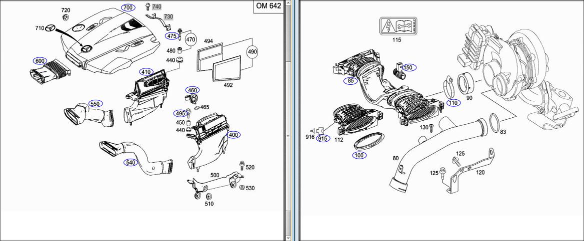 *BOSCH* Exhaust Pressure Sensor For MERCEDES BENZ GL350 CDI X164 3.0L OM642.940