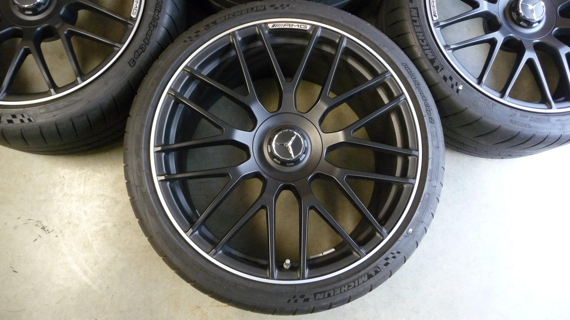 Michelin Pilot Sport >> AMG Black Cross-Spoked Wheels 4 Sale - MBWorld.org Forums