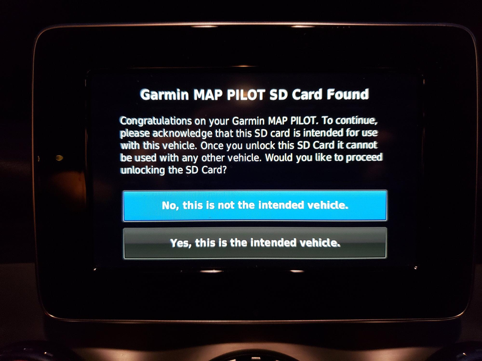 Garmin Map Pilot SD Card for a '19 Mercedes GLA    - MBWorld