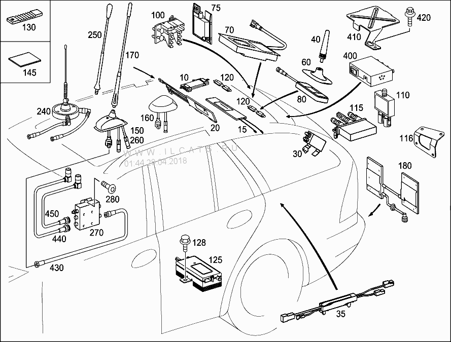 Location Of Antenna Amplifier In W203 Wagon