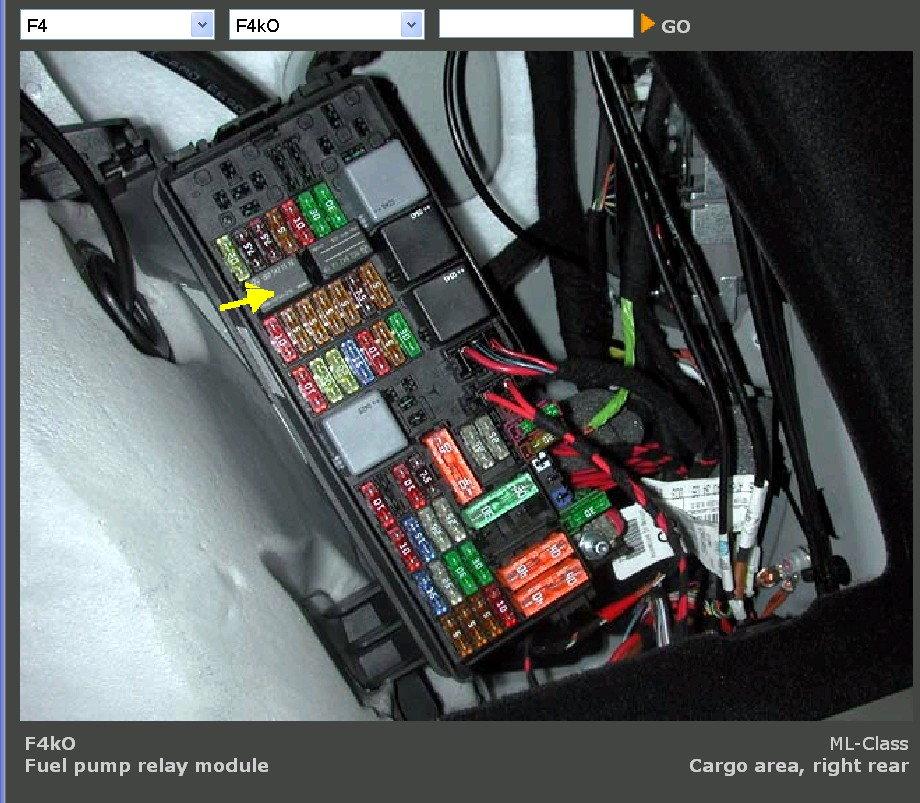 No Power To Fuel Pump    2006 Ml350