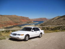 '95 MERC at Flaming Gorge, Utah.