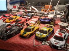 Some of the Box Stock cars at Coyote Hobbies