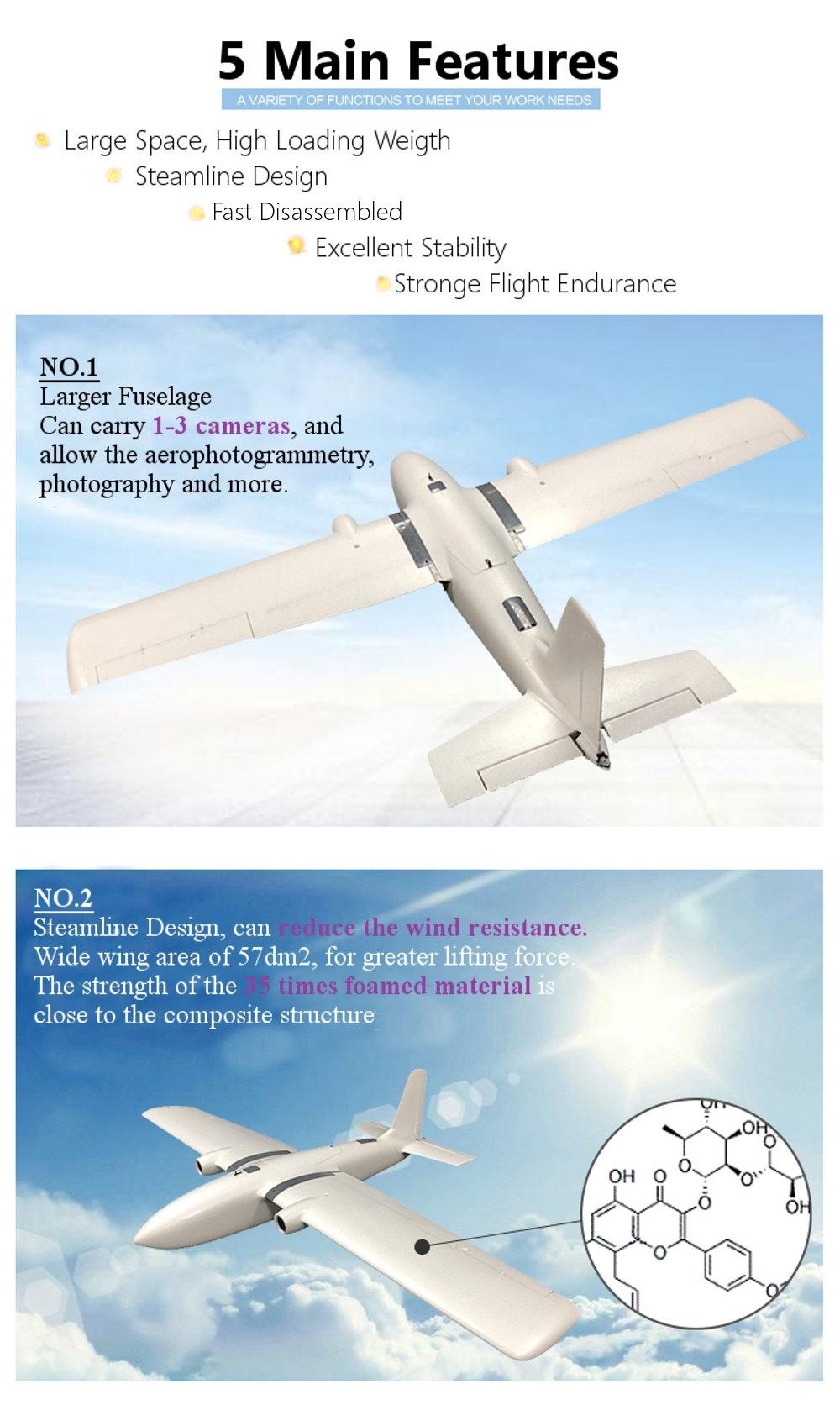 MFD Crosswind EPO 1950mm Wingspan FPV Aircraft RC Airplane