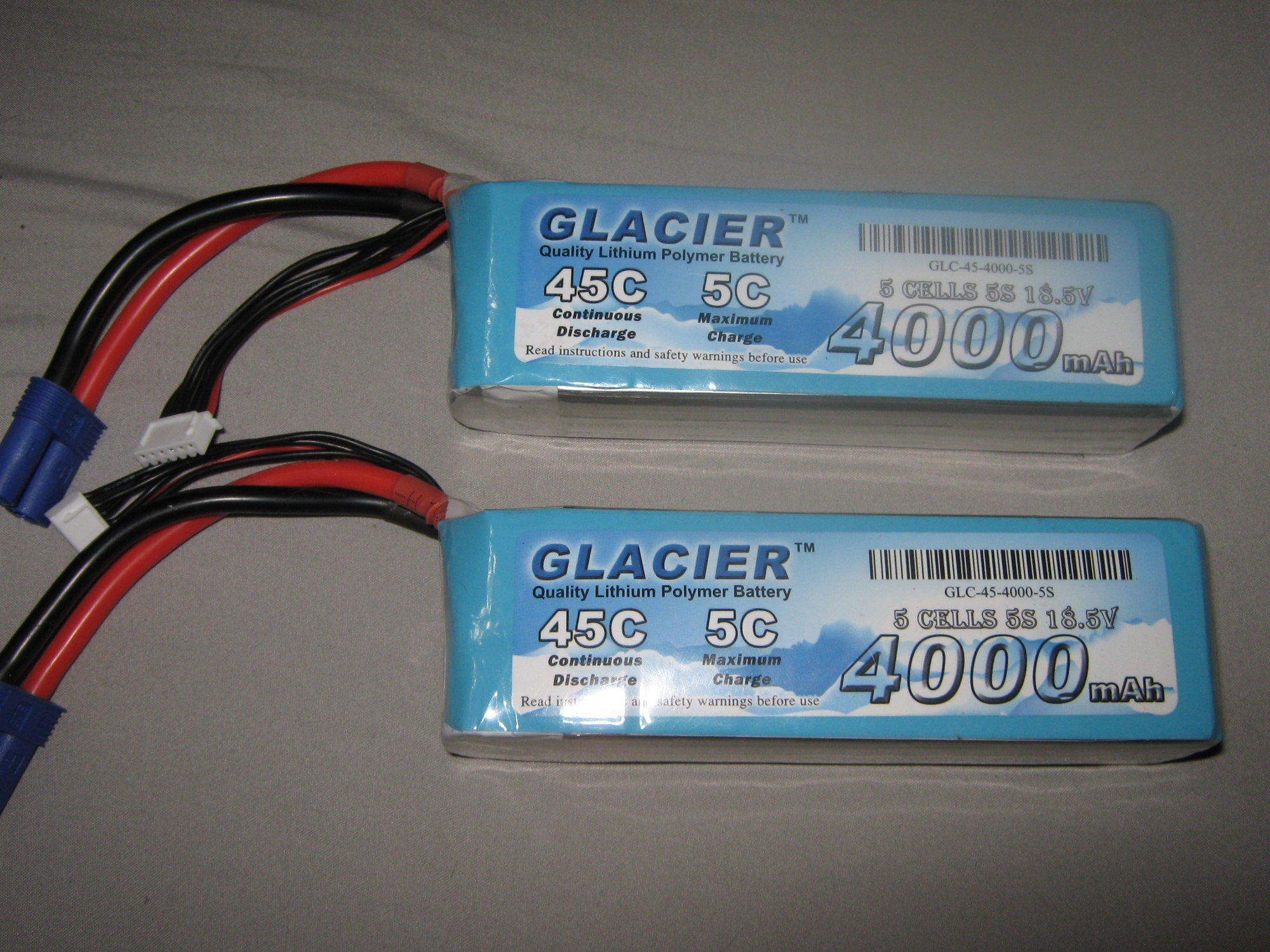 2 Glacier 4000mah 5s Lipo 45C Charged 3 times - RCU Forums