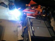 custom welding oil filler neck so.it clears fd.uim