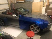 Wrapping Car - Pitch Blue Metallic