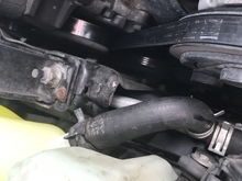 Old crappy hose clamp that was allowing coolant to leak out