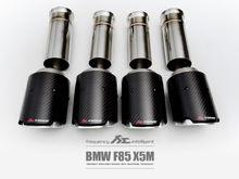 Fi Exhaust for BMW F85 X5M – Carbon Fiber Quad Tips (Fi Design)
