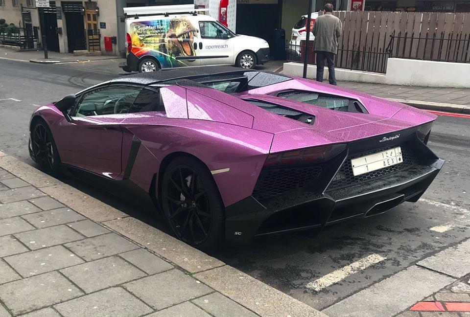 Purple Lamborghini Aventador Lp 720 4 50th Anniversio Roadster