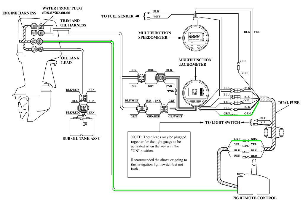 Yamaha 2 Stroke 115 Trxy Tach Signal