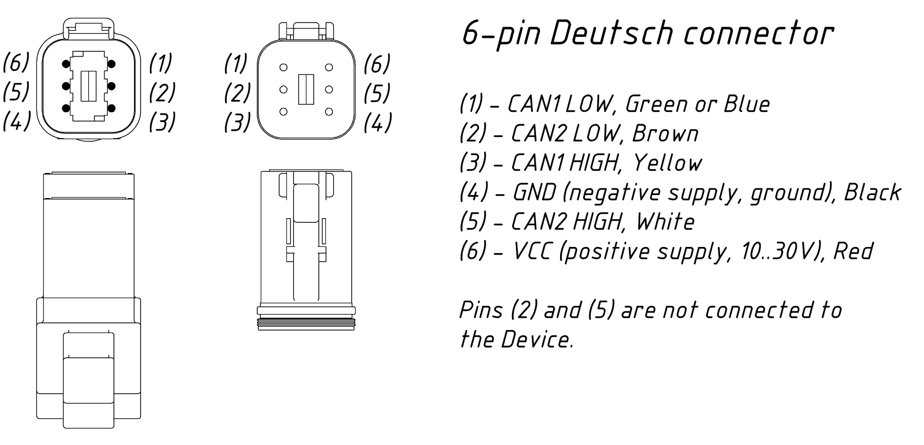 Crusader 20 pin CAN harness diagram needed for J1939 - The ... on