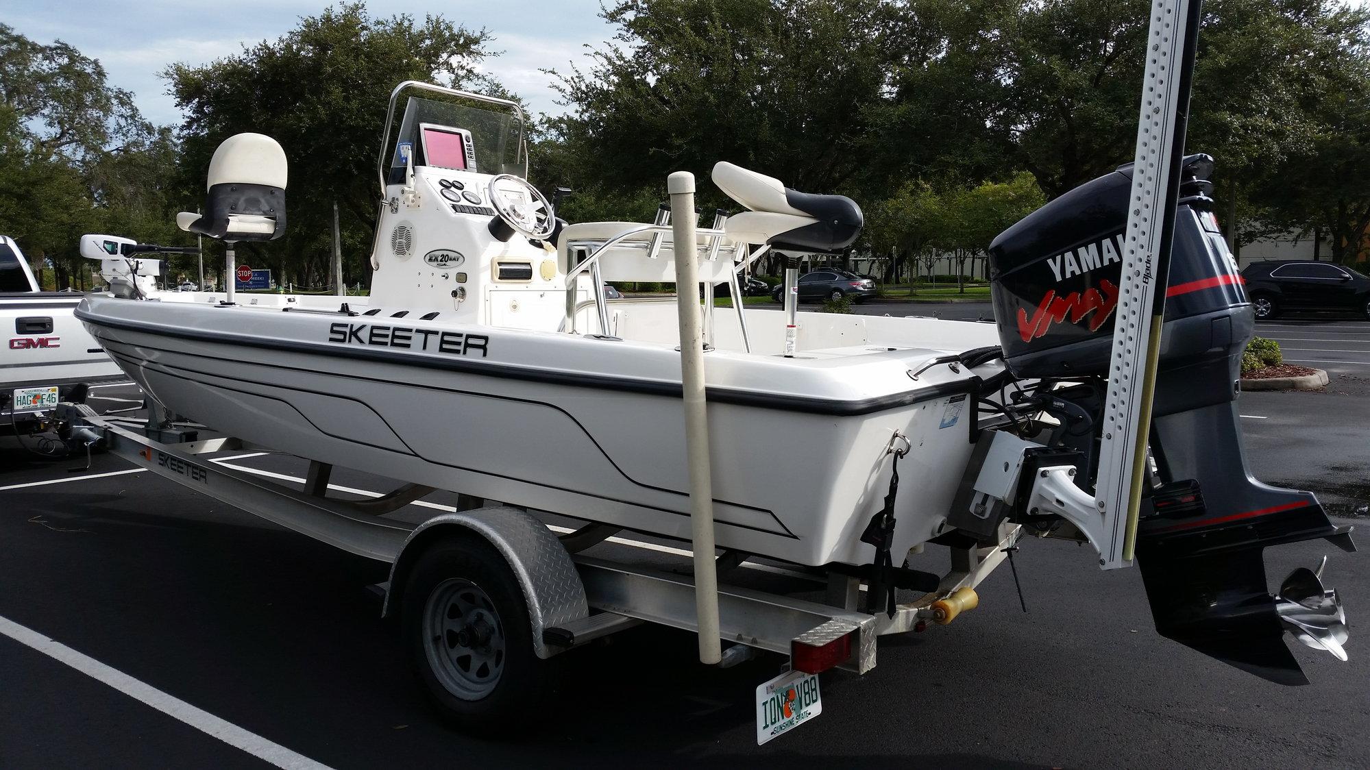 **SOLD** 2008 Skeeter ZX20 Bay Boat w/150hp Yamaha Vmax ...