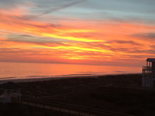 Sunset on Long Beach, Oak Island, NC  It is a good day if one can breathe and see a sunset.
