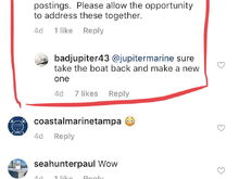 Granted the boat has issues, but Jupiter does want to help the guy.  Apparently from reading another post they didn't respond quickly enough. If they are willing to repair why bash them until no end? Isn't that kind of self defeating?