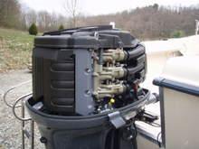 Grady motor under shroud