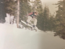Snowboarding at Arapahoe Basin in..... '97 maybe?