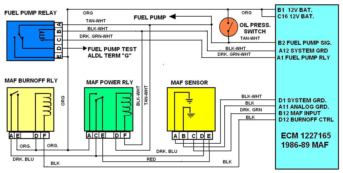80 1986_89_maf_relays_wiring_1f3928291171a8dcfe670d8b3dac8581786e6d06 which of these is fuel pump relay? third generation f body 94 camaro fuel pump wiring diagram at creativeand.co